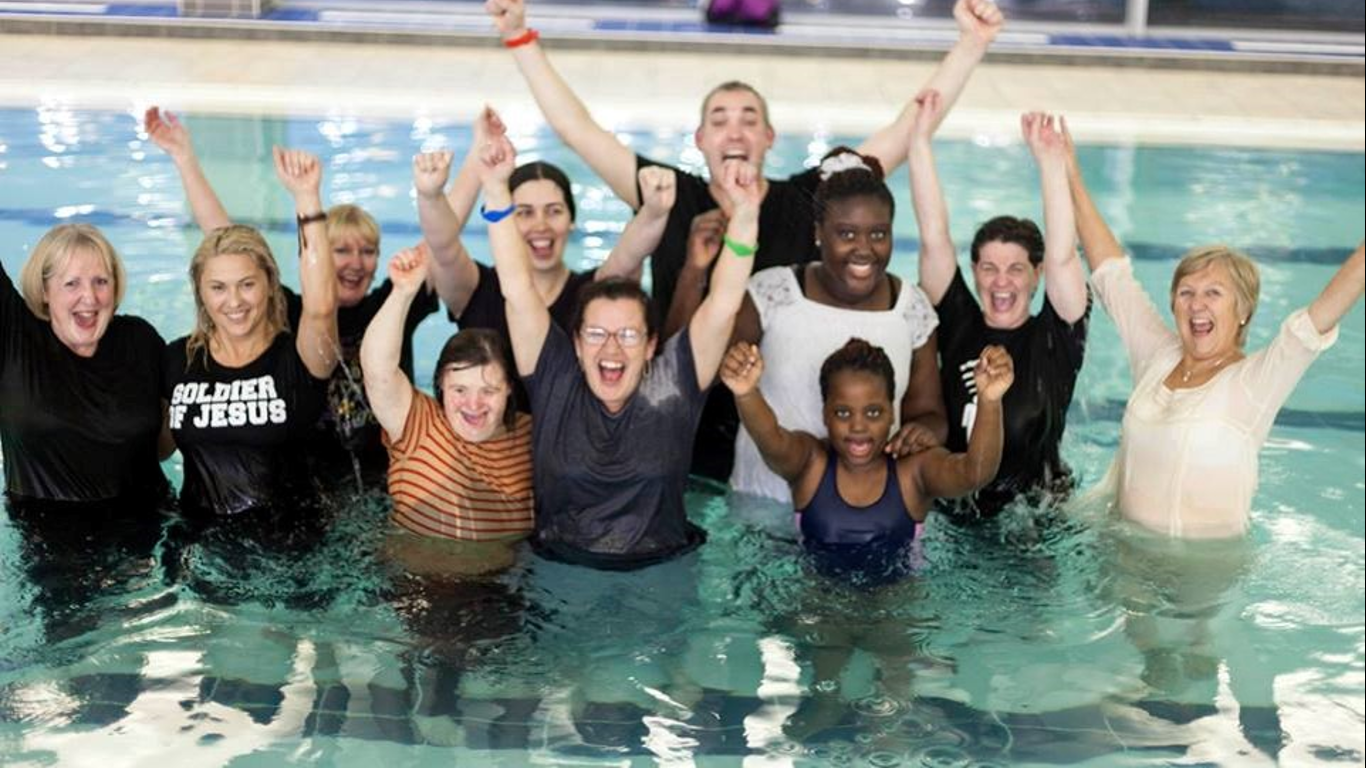 Baptisms hope church corby for Corby international swimming pool